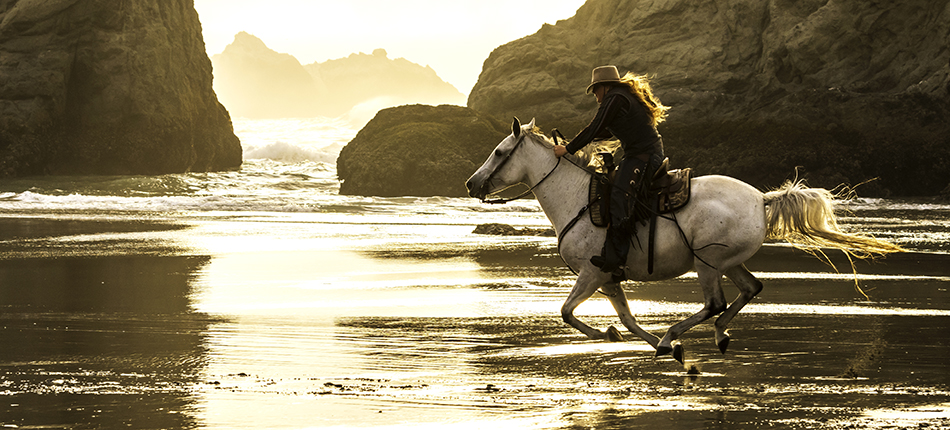 Golden Light Horseback